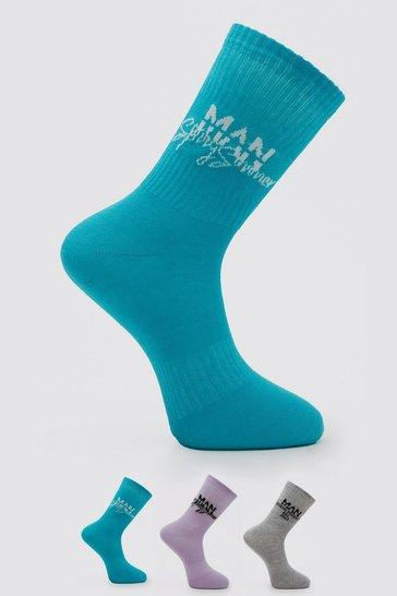Multi Man Spring Summer Jacquard Socks
