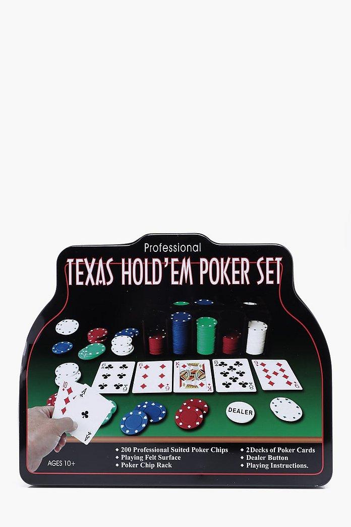 Texas Hold Em Poker Set Boohoo
