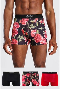 Multi 3 Pack Man Dash Roses Trunk