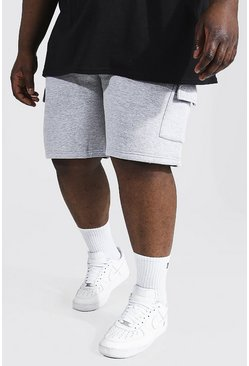 Grey marl grey Plus Mid Length Cargo Short