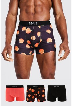 3 Pack Man Dash Peach Trunk, Multi