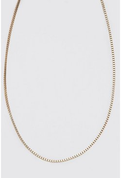 Gold metallic Thin Chain Necklace
