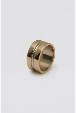 Gold metallic Concave Detail Ring