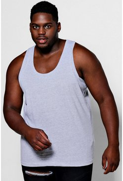 Grey grå Plus Size Basic Vest