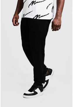 Black svart Plus Size Basic Skinny Fit Jogger