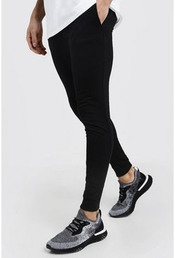 Black Super Skinny Fit Basic Joggers