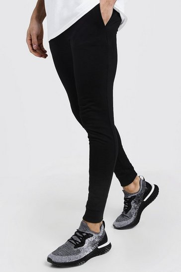 Black Super Skinny Fit Basic Joggers