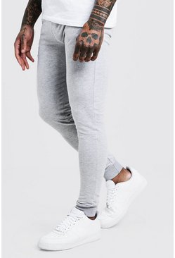 Grey Super Skinny Fit Basic Joggers