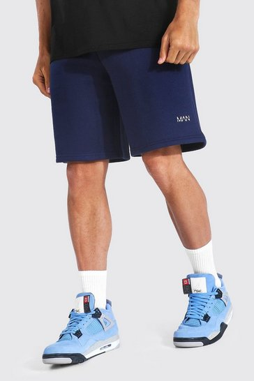 Navy Recycled Original Man Loose Fit Jersey Shorts