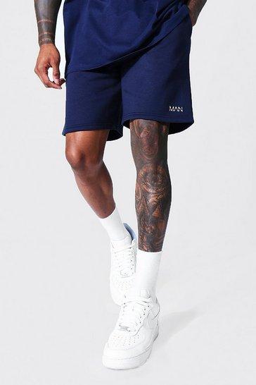 Navy Recycled Original Man Regular Jersey Shorts