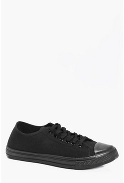 Black Canvas Plimsolls
