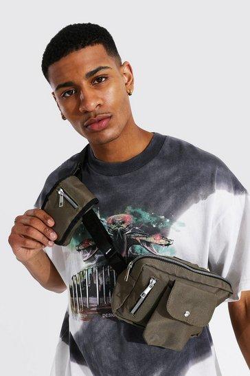 Khaki Double Pocket Chest Rig Bag