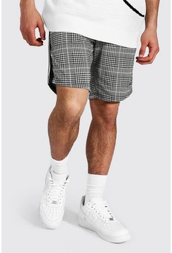 Black Slim Man Signature Tape Jacquard Shorts