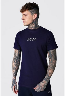 Navy Original Man Longline T-shirt