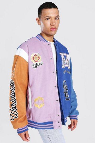 Purple Tall Limited Ed. Colourblock Varsity Jacket