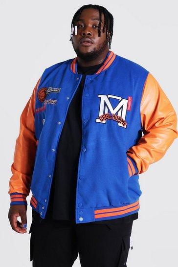 Blue Plus Official Homme Varsity Bomber Jacket