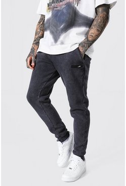 Charcoal grey Slim Man Original Man Acid Wash Jogger