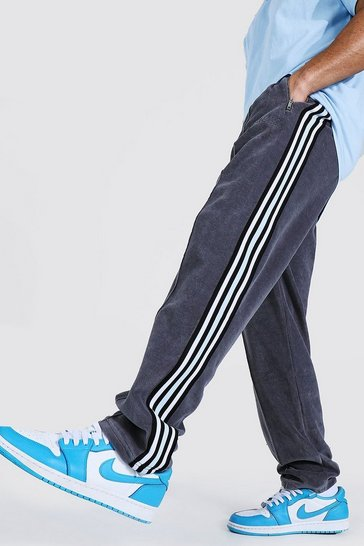 Charcoal grey Official Man Towel Jogger With Side Tape