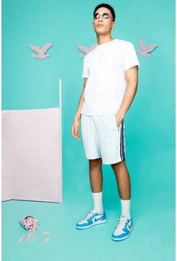 Pale blue blue Official Man Towelling Jersey Shorts