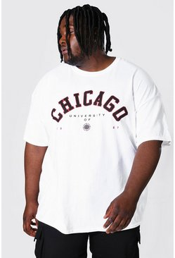 Grande taille - T-shirt Chicago, White blanc