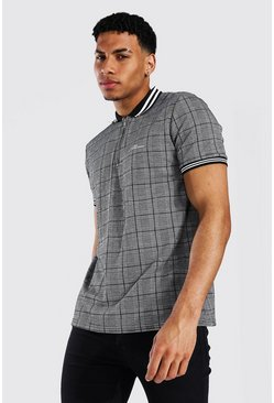 Grey Man Signature Jacquard 1/4 Zip Polo