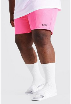Pink Plus Size Man Dash Swim Short