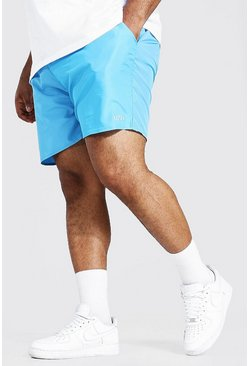 Blue Plus Size Man Dash Swim Short
