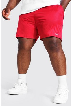 Grande taille - Short de bain cargo - MAN, Red rouge