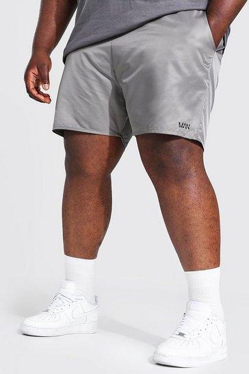 Grey Plus Size Man Dash Swim Short