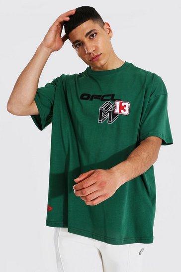 Green Oversized Ofcl 13 Varsity T-shirt