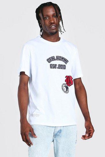 White Ofcl Homme Varsity T-shirt