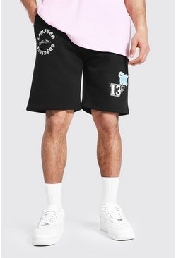Black svart Official MAN Jerseyshorts