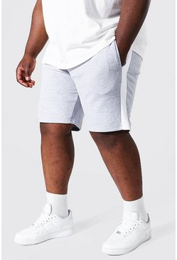 Grey marl grey Plus Man Mid Jersey Short With Side Panel