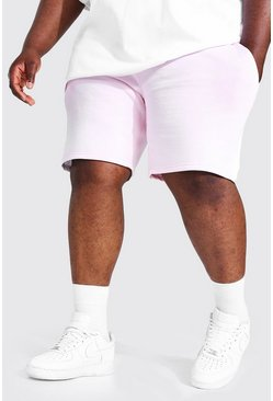 Pink Plus Man Mid Jersey Short With Side Panel