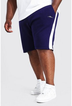 Navy Plus Man Signature Side Panel Jersey Short