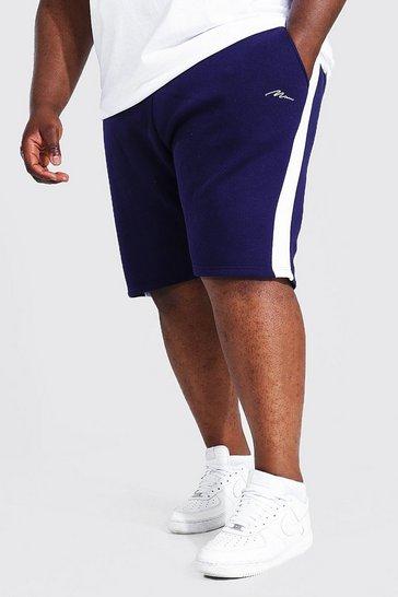 Navy Plus Man Signature Side Panel Jersey Short