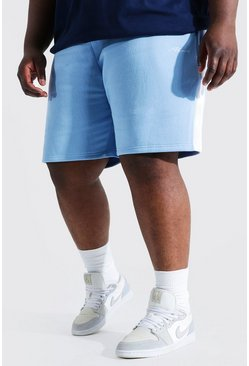 Blue blå Plus - Man Signature Jerseyshorts med sidopaneler