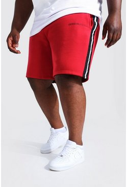 Red röd Plus - MAN Official Jerseyshorts med kantband