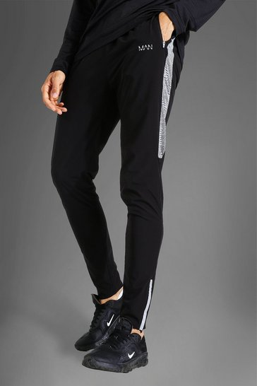 Black Tall Man Active Lightweight Jogger With Patte