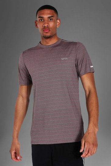 Charcoal grey Tall Man Active Textured T-shirt