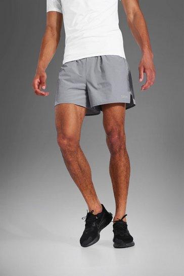 Grey Tall Man Active Running Shorts