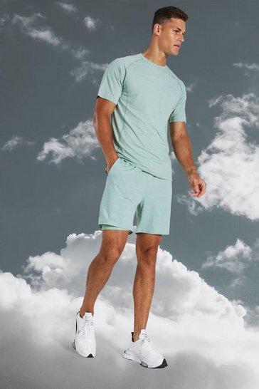 Mint green Tall Active Lightweight Marl Short Set