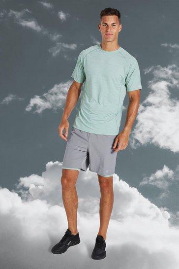 Mint green Tall Active Lightweight Contrast Short Set