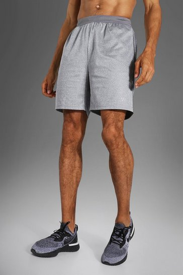 Grey Tall Man Active Contrast Stitch Shorts