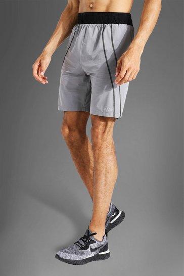 Grey Tall Man Active Contrast Boxing Short