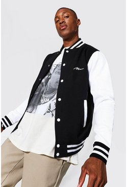 Black Man Signature Jersey Varsity Bomber Jacket