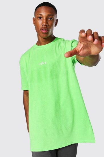 Lime green Oversized Offcl T-shirt