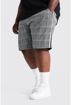 Grey grå Plus Size Man Sig Jacquard Jersey Shorts