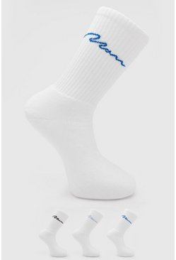 3 Pack Man Signature Tube Sock, Multi