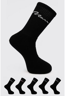 5 Pack Man Signature Tube Sock, Multi